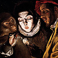 An Allegory With A Boy Lighting A Candle In The Company Of An Ape And A Fool by El Greco