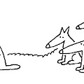 An Alpha Wolf Tries To Convince Another Wolf by Charles Barsotti
