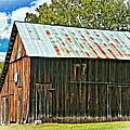 An American Barn 2 Oil by Steve Harrington