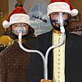 An American Gothic Sleep Apnea Merry Christmas by Mike McGlothlen
