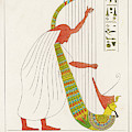 An Ancient Egyptian Priest Plays An by Mary Evans Picture Library