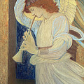 An Angel Playing A Flageolet by Sir Edward Coley Burne-Jones