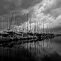 An Approaching Storm - Black And White by Heidi Smith
