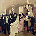 An Argument In The Corridors Of The Opera by Jean Beraud
