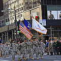 An Army Outfit Marching In The 2009 New York St. Patrick Day Parade by James Connor