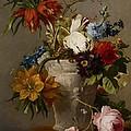 An Arrangement With Flowers by Georgius Jacobus Johannes van Os