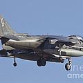 An Av-8b Harrier II Flying Over Yuma by Timm Ziegenthaler