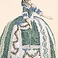 An Elaborate Royal Court Gown, Engraved by Augustin de Saint-Aubin