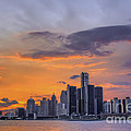 An Evening In Detroit Michigan  by Tim Wilson