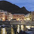 An Evening In Vernazza by Jennifer Viola
