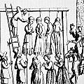 An Execution Of Witches In England by English School