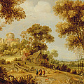 An Extensive Wooded Landscape by Gillis Claesz d' Hondecoeter