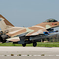 An Israeli Air Force F-16c by Timm Ziegenthaler