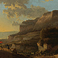 An Italianate Landscape With Travellers Ambushed By Bandits by Jan Hackaert