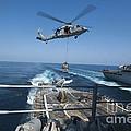 An Mh-60s Sea Hawk Brings Pallets by Stocktrek Images
