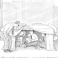 An Office Worker Lifts A Sheet And Finds Three by David Borchart