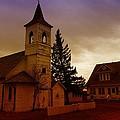 An Old Church In Williston North Dakota  by Jeff Swan