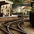 An Old-fashioned Train Station by John Short