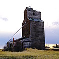 An Old Grain Elevator Off Highway Two In Montana by Jeff Swan
