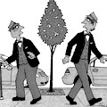 An Old Man And A Young Man Dressed Identically by William Haefeli