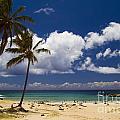 Anakena Beach On Easter Island by David Smith