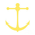 Anchor In Yellow And White by Jackie Farnsworth