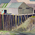 Anchorage Dock 1980s by Teresa Ascone