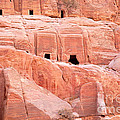 Ancient Buildings In Petra by Jane Rix