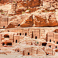 Ancient Dwellings At Petra by David Birchall