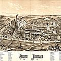 Ancient Jerusalem Map 65ad by Padre Art
