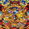 Ancient Tibetan Tangka Wheel Of Life by Jeelan Clark