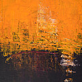Ancient Wisdom Orange Brown Abstract By Chakramoon by Belinda Capol