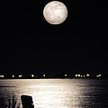 And No One Was There - To See The Full Moon Over The Bay by Gary Heller