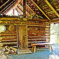 Andrew Berg's Homestead Cabin At Kenai National Wildlife Refuge In Soldotna-alaska by Ruth Hager