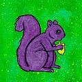 Andy's Squirrel Purple by Stefanie Forck