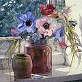 Anemones by Julia Rowntree