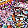 Angel And Frida Sugar Skull Lovers' by Sandra Silberzweig