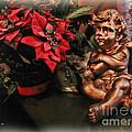 Angel And Poinsettia by Joan  Minchak