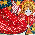 Angel In Red by Munir Alawi