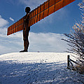 Angel In The Snow Iv by David Pringle