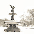 Angel Of The Waters - Central Park - Winter by Vivienne Gucwa