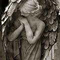 Angel Photography Spiritual Angel  - Guardian Angel In Prayer - Angel Praying  by Kathy Fornal