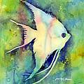Angelfish I by Hailey E Herrera