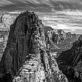 Angel's Landing In Black And White by Pierre Leclerc Photography