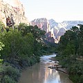 Angels Landing - Virgin River - Zion Np by Christiane Schulze Art And Photography