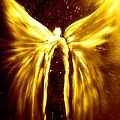 Angels Of The Golden Light Anscension by Alma Yamazaki