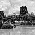 Angkor Black White by Chuck Kuhn