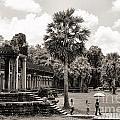 Angkor Wat Bw II by Chuck Kuhn
