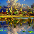 Angkor Wat Just Before Sunset by Leslie Ware