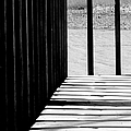 Angles And Shadows - Black And White by Shawna Rowe